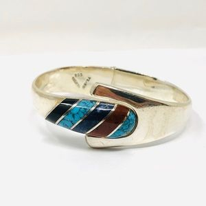 🆕 TAXCO sterling, gemstone bracelet, 55.5g